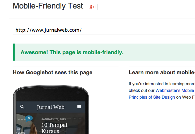 Google Mobile-Frienly Test