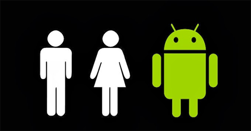 Android Logo Bathroom Signs