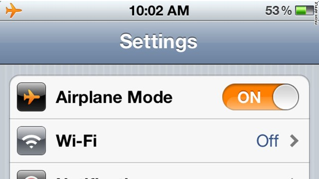 airplane mode wifi off