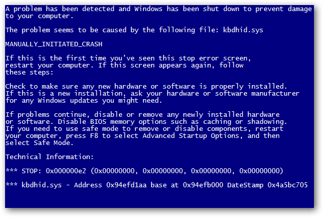 blue screen windows