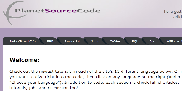 Planet Source Code