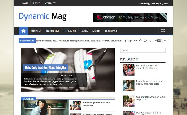 Dynamic Mag SEO Template