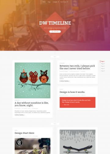 wordpress theme dw timeline