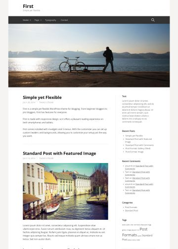 wordpress theme personal blog first