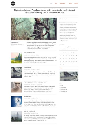 wordpress theme personal blog origin