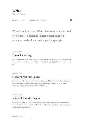 wordpress theme personal blog write