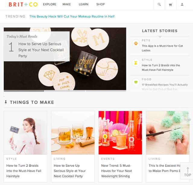 brit and co homepage