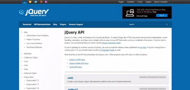 Official jQuery Documentation