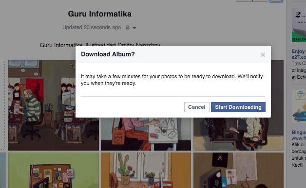 download album foto facebook