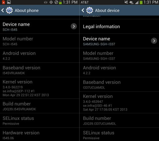 versi kernel android
