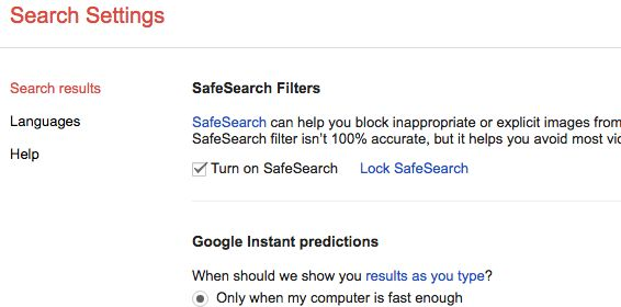 Google Safe Search