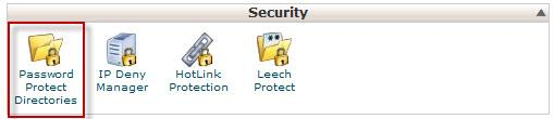Password Protect Directory CPANEL