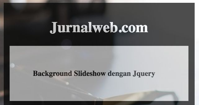 background slideshow dengan jquery