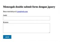 submit form dua kali