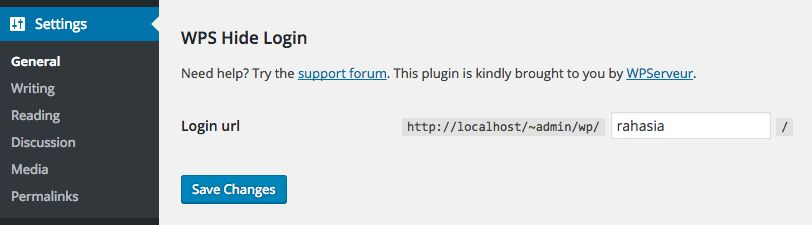 Mengganti URL Login WordPress