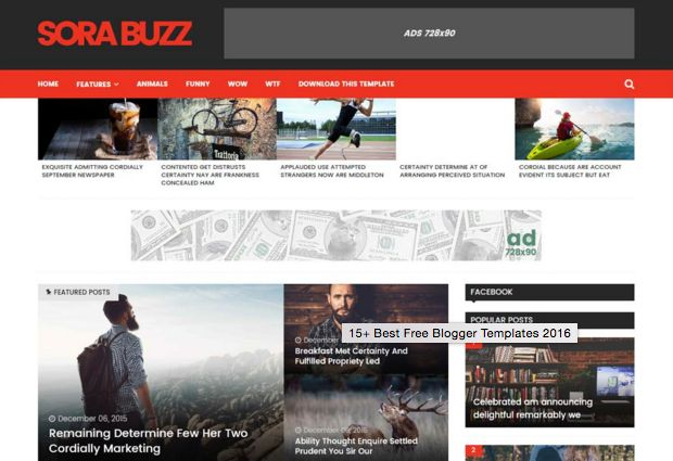 Sora Buzz template blogger