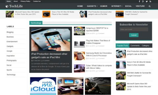 7 template blogger terbaik dan responsive gratis for How to create blogspot template