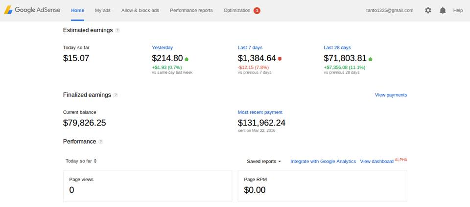 fake adsense earning