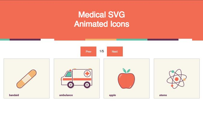 Animasi SVG icon medical