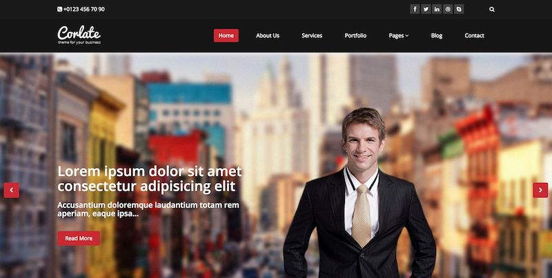 Corlate bootstrap template