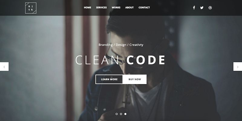 Rise bootstrap template