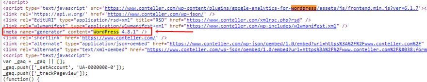 wp-content view source