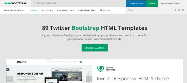 Shapebootstrap template