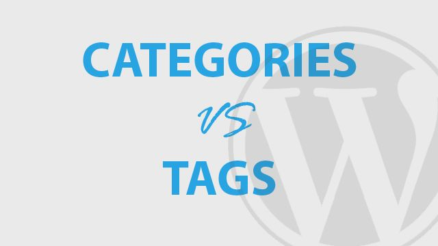 category tag wordpress