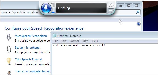 speech recognition windows