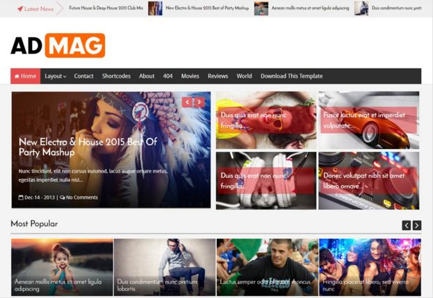 Ad Mag template blogger