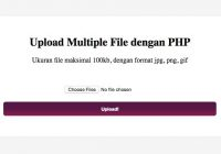 upload multiple file php
