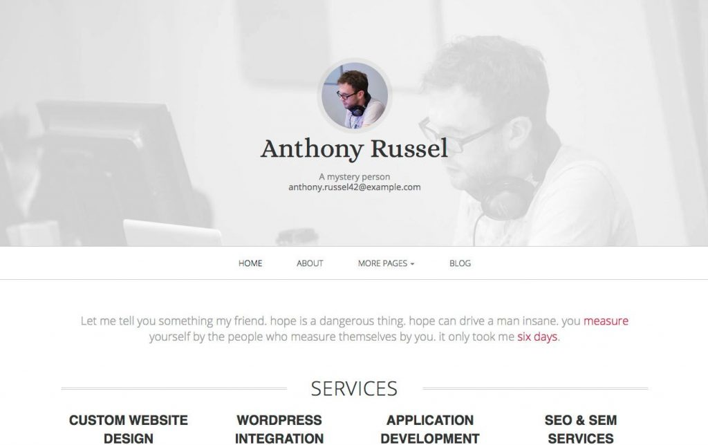 template bootstrap Initio