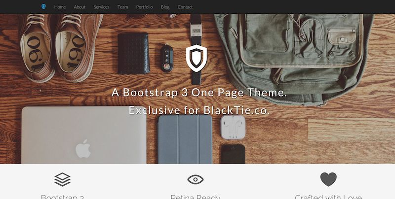 template bootstrap Shield