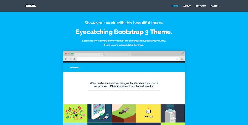template bootstrap Solid