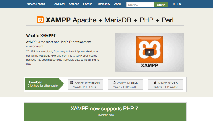 Website Apache Friends